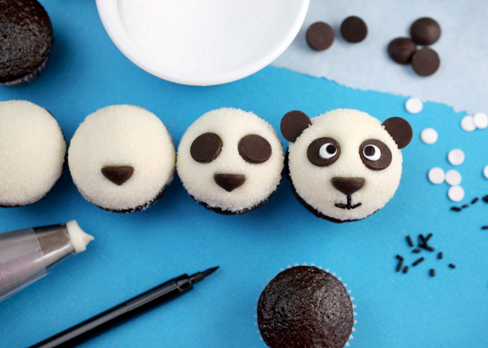 Recipe Easy Fun amp Cute Panda Cupcakes Mama Bees Freebies