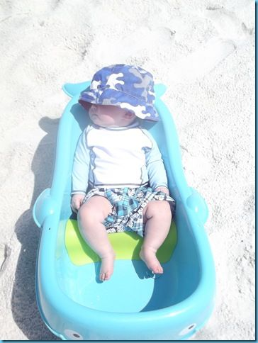 If You Are Traveling To The Beach With An Infant Bring Along Their Bathtub Set Up A Little Umbrella And Your Baby Should Be Happy Splash Around In