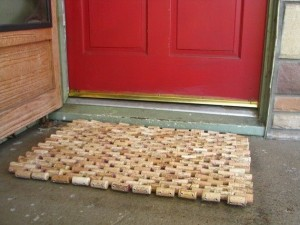 7 up cycled wine cork crafts mama bees freebies for Wine cork welcome mat