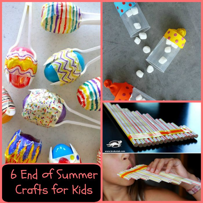 6 end of summer crafts for kids   mama bees freebies