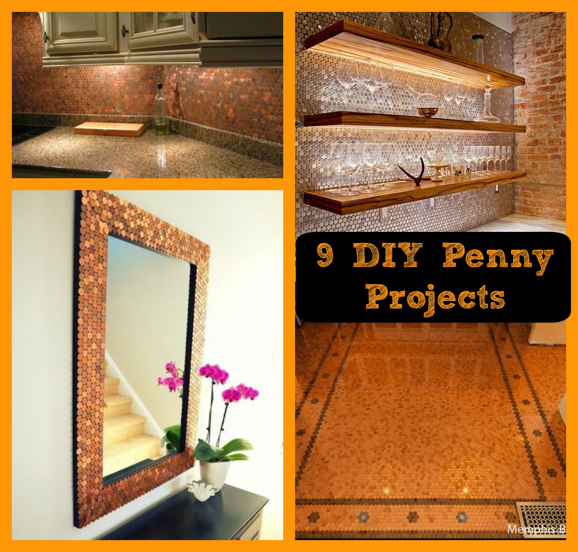 Save your pennies for these 9 diy penny projects mama for How to make a penny wall