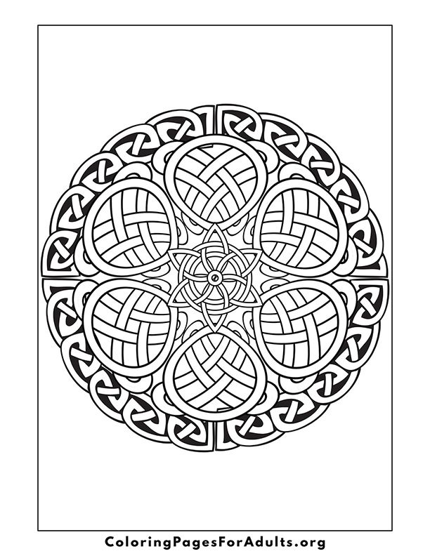 Color Page With Celtic Knots