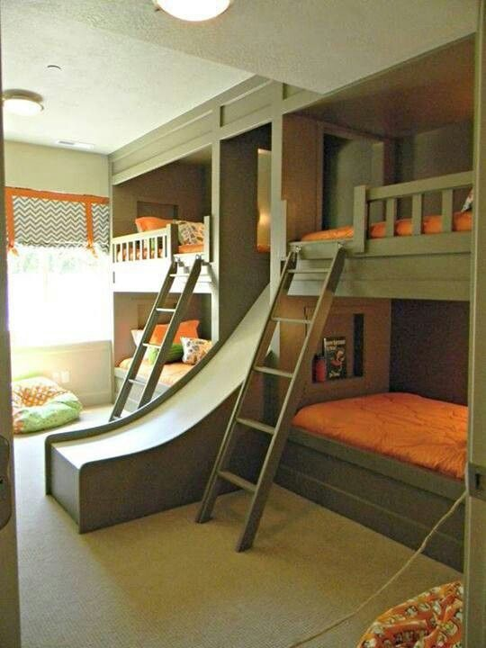 Green Bunks with Slide