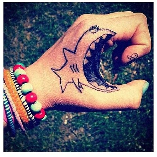 Fish Eating Fish Tattoo Shark Eats Fish