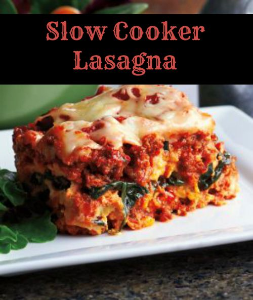 Recipe: Slow Cooker Lasagna - Mama Bees Freebies