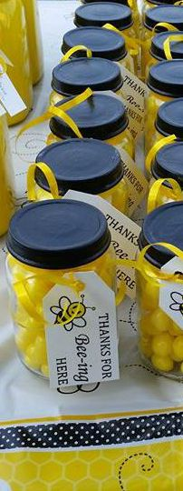 Bee Favors Jars With Lemon Drops