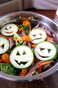 healthy halloween past salad