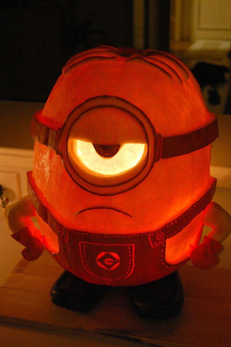 stuart - Minion Pumpkin Stencil