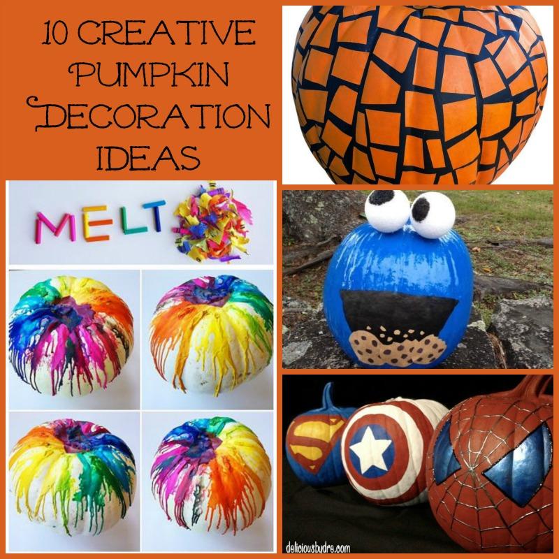 10 Creative Pumpkin Decoration Ideas Mama Bees Freebies