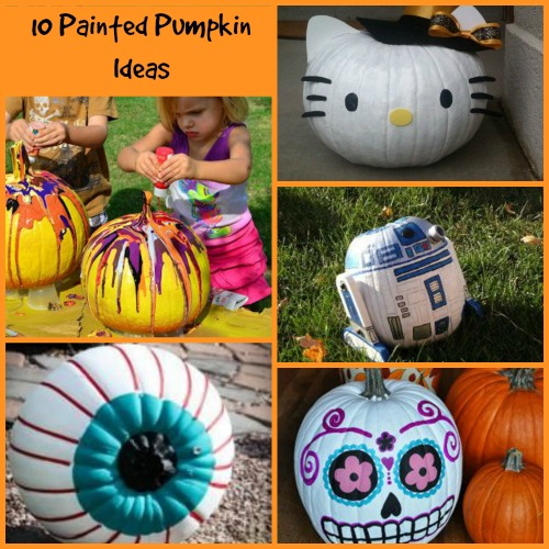 10 painted pumpkin ideas mama bees freebies Funny pumpkin painting ideas