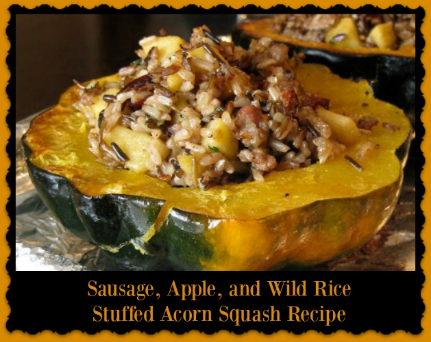 ... , Apple, and Wild Rice Stuffed Acorn Squash - Mama Bees Freebies