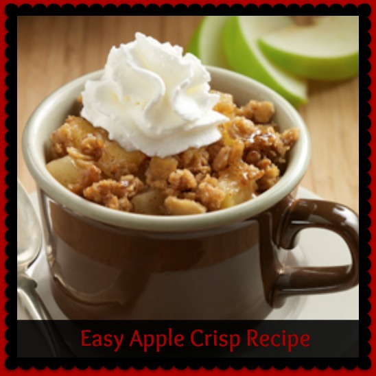 Easy Apple Crisp Recipe - Mama Bees Freebies
