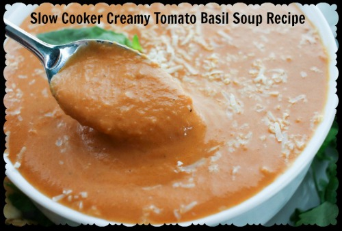 Slow Cooker Tomato Basil Soup Recipe — Dishmaps