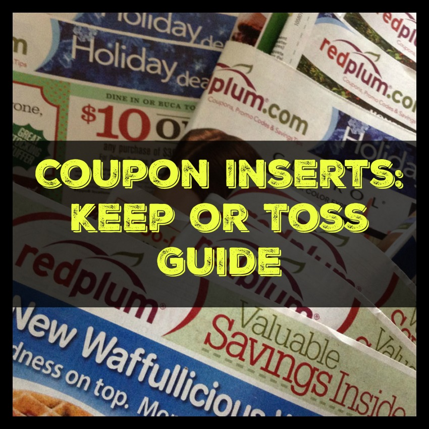 coupon inserts keep or Toss Guid