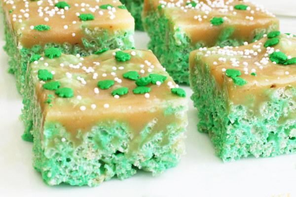 St Patricks Carmel Rice Krispy Treats