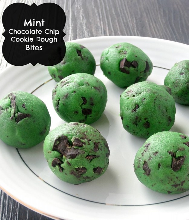 St Patricks Mint Chocolate Chip Cookie Dough