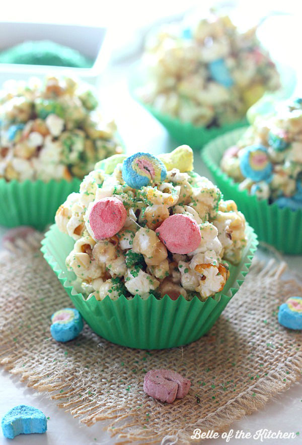 St Patricks Popcorn Balls